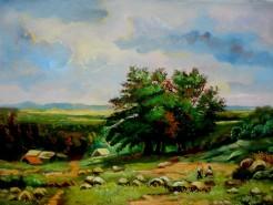 Picturi cu peisaje Tablou peisaj vara2