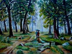Picturi cu peisaje Tablou ploaia