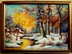 Picturi cu peisaje Tablou poveste de iarna