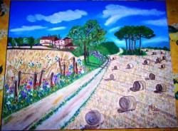 Picturi cu peisaje La camp