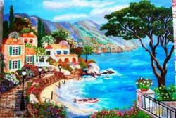 Picturi cu peisaje Oras linga lac