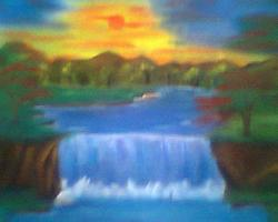 Picturi cu peisaje Cascada1