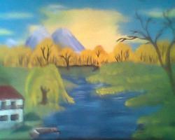 Picturi cu peisaje Vine toamna