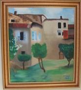 Picturi cu peisaje Case in italia