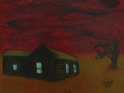 Picturi cu peisaje Lanul de grau