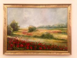 Picturi cu peisaje Camp cu maci rosii 1
