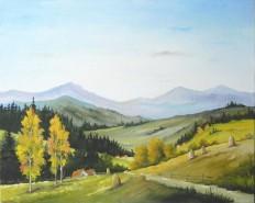 Picturi cu peisaje Capite pe drum