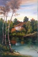 Picturi cu peisaje Casa de peste ape
