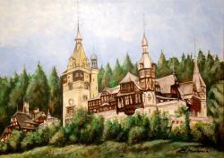 Picturi cu peisaje castelul Peles 1