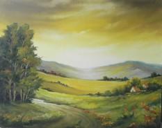 Picturi cu peisaje Casuta reprod