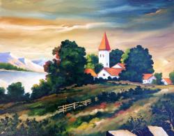 Picturi cu peisaje Casute 1