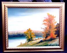 Picturi cu peisaje La margine de apa