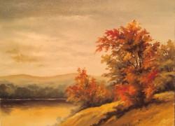 Picturi cu peisaje La margine de apa 2