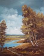Picturi cu peisaje La margine de padure