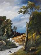 Picturi cu peisaje Parau de munte