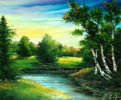 Picturi cu peisaje Peisaj in cutit