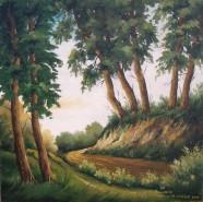 Picturi cu peisaje Prin padure 2