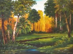 Picturi cu peisaje Veselie in padure