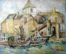 Picturi cu peisaje Port la marea nordului