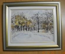 Picturi cu peisaje Toamna-iarna