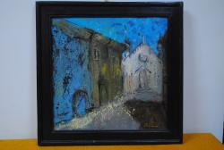 Picturi cu peisaje alee in Sighisoara