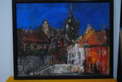 Picturi cu peisaje Sighisoara medievala