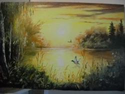 Picturi cu peisaje Apus de soare 5