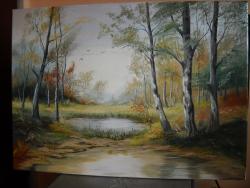 Picturi cu peisaje intre toamna si iarna