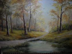 Picturi cu peisaje Padurea  aurie
