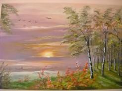 Picturi cu peisaje Rasarit de soare