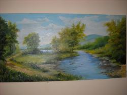 Picturi cu peisaje Sfarsitul verii pe Somes