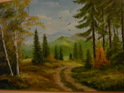 Picturi cu peisaje Toamna in padure 2