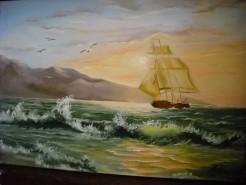 Picturi cu peisaje Valuri