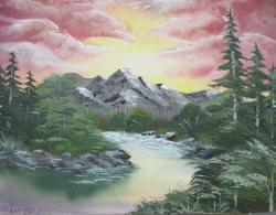 Picturi cu peisaje izvorul din munti