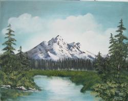 Picturi cu peisaje muntele cu zapada