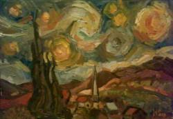 Picturi cu peisaje Interpretare dupa van gogh