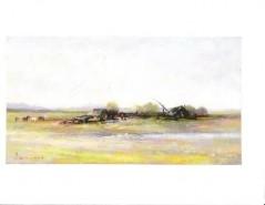 Picturi cu peisaje Peisaj cu case taranesti