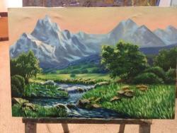 Picturi cu peisaje munții