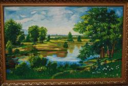 Picturi cu peisaje Linga riu