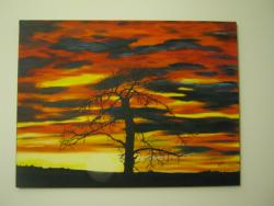 Picturi cu peisaje Asfintit cu pom
