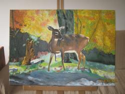Picturi cu peisaje Caprioara in cring