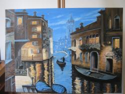 Picturi cu peisaje Lumini si umbre la Venetia