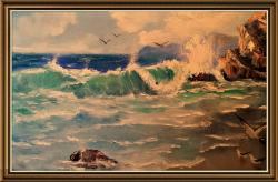 Picturi cu peisaje Valuri sparte