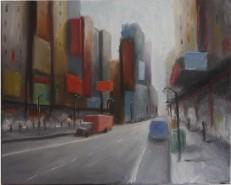 Picturi cu peisaje Red truck