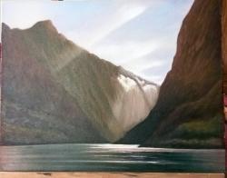 Picturi cu peisaje Cascada in munti 22