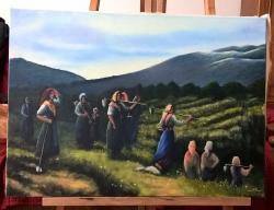 Picturi cu peisaje dealuri spaniole 19