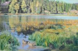 Picturi cu peisaje Lacul seefeld
