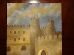 Picturi cu peisaje Castelul pe inserat