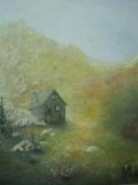 Picturi cu peisaje Cabana la munte