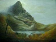 Picturi cu peisaje Munte in nori